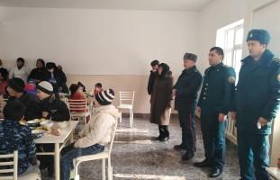 ИИБ ходимлари вилоят болалар фтизиатрия сиҳатгоҳида бўлишди